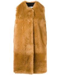 MSGM - Faux Fur Long Gilet - Lyst