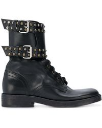 Étoile Isabel Marant - Studded Combat Boots - Lyst