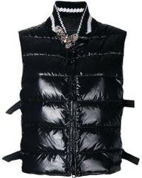 Ermanno Scervino - Embellished Sleeveless Puffer Jacket - Lyst