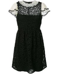 RED Valentino - Macrame Lace Trim Dress - Lyst