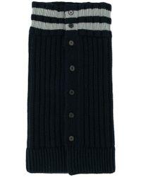Jil Sander - Striped Cable-knit Scarf - Lyst