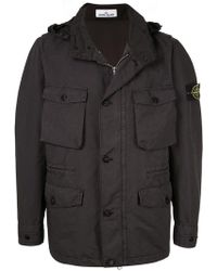 Stone Island - Lightweight Jacket With Removable Hood - Lyst