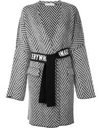 Golden Goose Deluxe Brand - Chevron Belted Wrap Coat - Lyst
