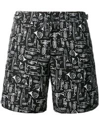 Dolce & Gabbana - Musical Instrument Print Swim Shorts - Lyst