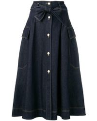 Nina Ricci - A-line Denim Skirt - Lyst