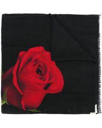 Marcelo Burlon - Rose Print Scarf - Lyst