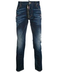 DSquared² - Distressed Skater Jeans - Lyst