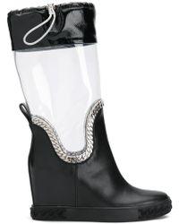 Casadei - Glass Rain Boots - Lyst
