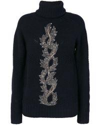 Jo No Fui - Bead Embroidery Turtleneck Jumper - Lyst