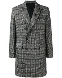 AMI - Lined Double Breasted Coat - Lyst