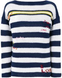 Ermanno Scervino - Cashmere Striped Sweater - Lyst