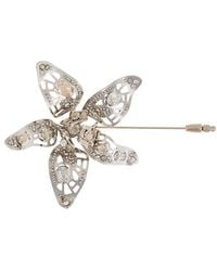 Lanvin - Crystal-embellished Flower Brooch - Lyst