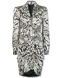 Roberto Cavalli - Animal Print Shirt Dress - Lyst