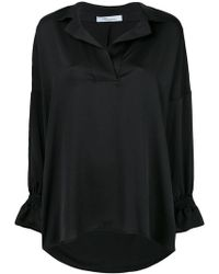 Blumarine - Oversized Flute Sleeve Shirt - Lyst