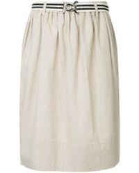Bassike - Belted Draped Midi Skirt - Lyst