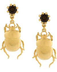Alex Monroe - Beetle Earrings - Lyst