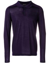 Roberto Collina - Knitted Polo Shirt - Lyst