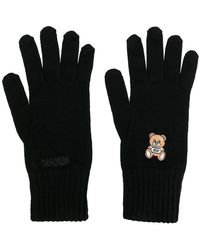 Moschino - Embroidered Teddy Gloves - Lyst