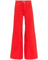 Ganni - Mid-rise Wide Leg Jeans - Lyst