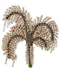 N°21 - Palm Tree Brooch - Lyst