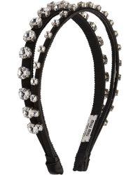 Miu Miu - Crystal-embellished Double Headband - Lyst