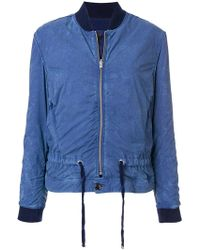 Closed - Cropped Bomber Jacket - Lyst