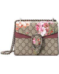 66658963af2 Lyst - Gucci Dionysus Gg Blooms Mini Bag in Gray