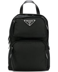 Prada - Logo Backpack - Lyst