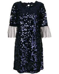Blumarine | Tulle Cuff Sequin Mini Dress | Lyst