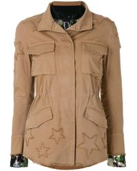 Bazar Deluxe - Layered Cargo And Bomber Jacket - Lyst