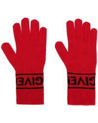 Givenchy - Logo Knit Gloves - Lyst