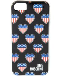 Love Moschino - American Heart Iphone 5/5s Cover - Lyst