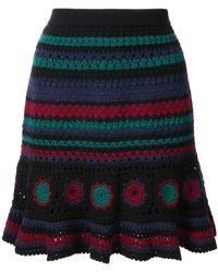 Adam Selman - Flirty Crochet Skirt - Lyst
