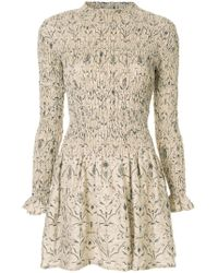 3c9bff4f2d Sir. The Label Sachi Ruched Linen Mini Dress in Metallic - Lyst