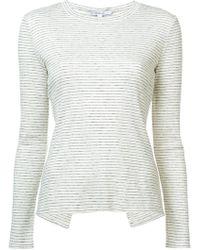 10 Crosby Derek Lam - Long Sleeve Tee Asymmetrical Back Detail - Lyst