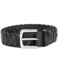 Etro - Plaited Buckle Belt - Lyst