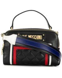 c8546ca3924 Love Moschino Highlands Black Printed Canvas Cross-body Bag in Black ...