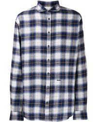 DSquared² チェック フランネルシャツ - ブルー