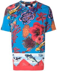 Paul Smith   Ocean Print T-shirt   Lyst