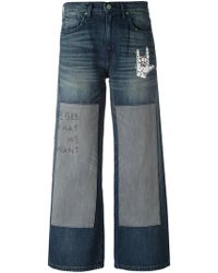 Sandrine Rose - Embroidered Patchwork Jeans - Lyst