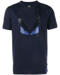 Fendi - Crystal Embellished Monster T-shirt - Lyst