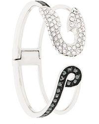 Karl Lagerfeld - Safety Pin Hinge Cuff - Lyst