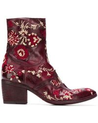 Fauzian Jeunesse - Embroidered Ankle Boots - Lyst