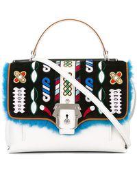 Paula Cademartori - Petite Faye Leather Bag W/ Embroidery - Lyst