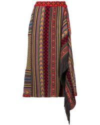 Etro - Patterned Asymmetric Skirt - Lyst
