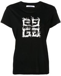 Givenchy - T-shirt à logo devant - Lyst