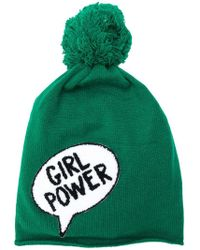 Ultrachic - Girl Power Pom-pom Hat - Lyst