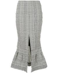 Christopher Esber - Check Flared Slit Detail Skirt - Lyst