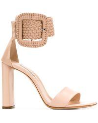 Casadei - Statement Ankle Buckle Sandals - Lyst