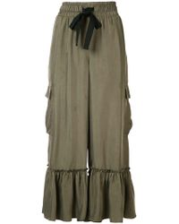 Cinq À Sept - Ruffled Cropped Trousers - Lyst